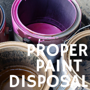 Paint disposal #disposal