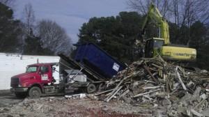 40 yard dumpster delivered to Ellenwood demolition job